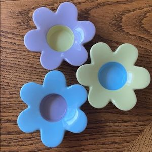 Party Lite flower tea candle holders